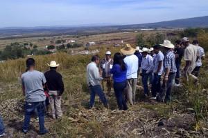 Autoridades municipales y ejidales visitaron el sitio