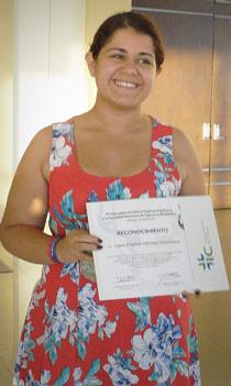 Laura Méndez Magdaleno alumna de la Facultad de Ciencias de la UASLP