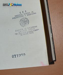 """Sello de la biblioteca """"Salvador Aceves Parra"""""""