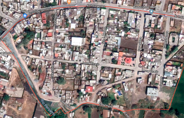 Localización de El Huarapo, Pénjamo