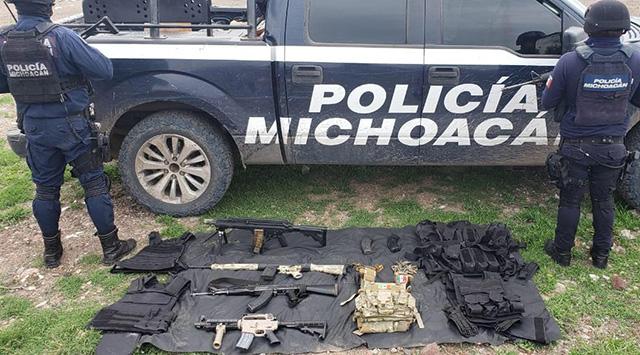 Vehículos robados y armas de fuego