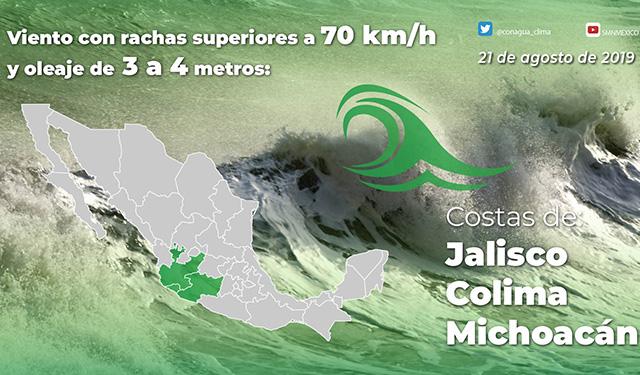 depresión tropical Guerrero Michoacán
