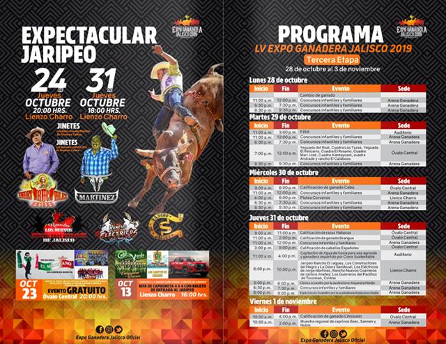 PROGRAMA COMPLETO DE LA EXPO GANADERA
