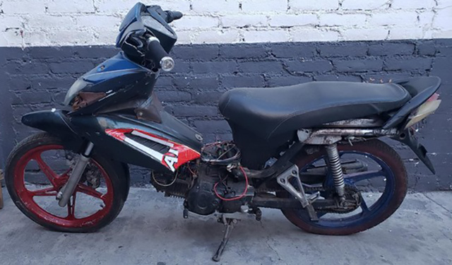 motocicleta asegurada en La Piedad