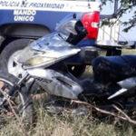 Moto recuperada en Angamacutiro