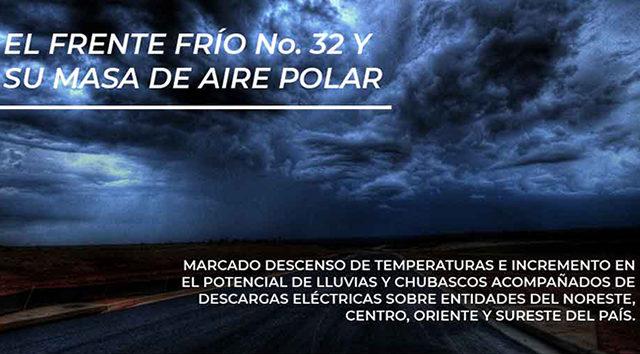 frente frío 32