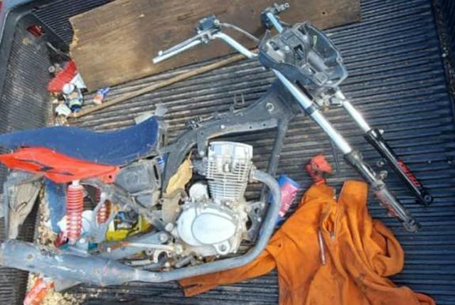 Yurécuaro moto desvalijada