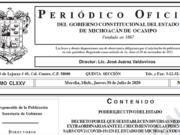 decreto cubrebocas Michoacán