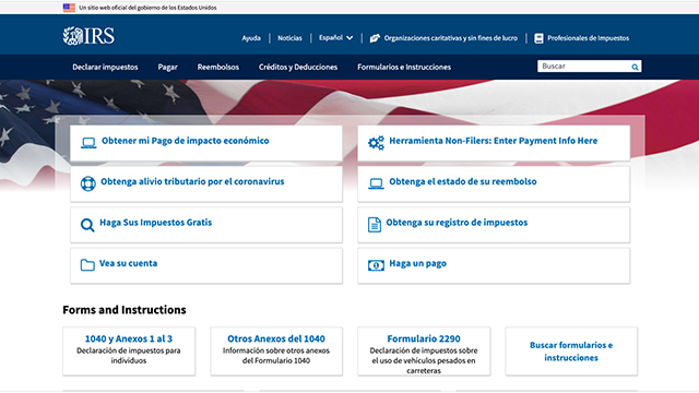 IRS Impuestos Estados Unidos