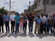 Obra Río Grande cemento pavimentación
