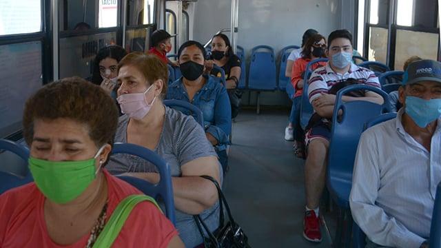 transporte cubrebocas La Piedad
