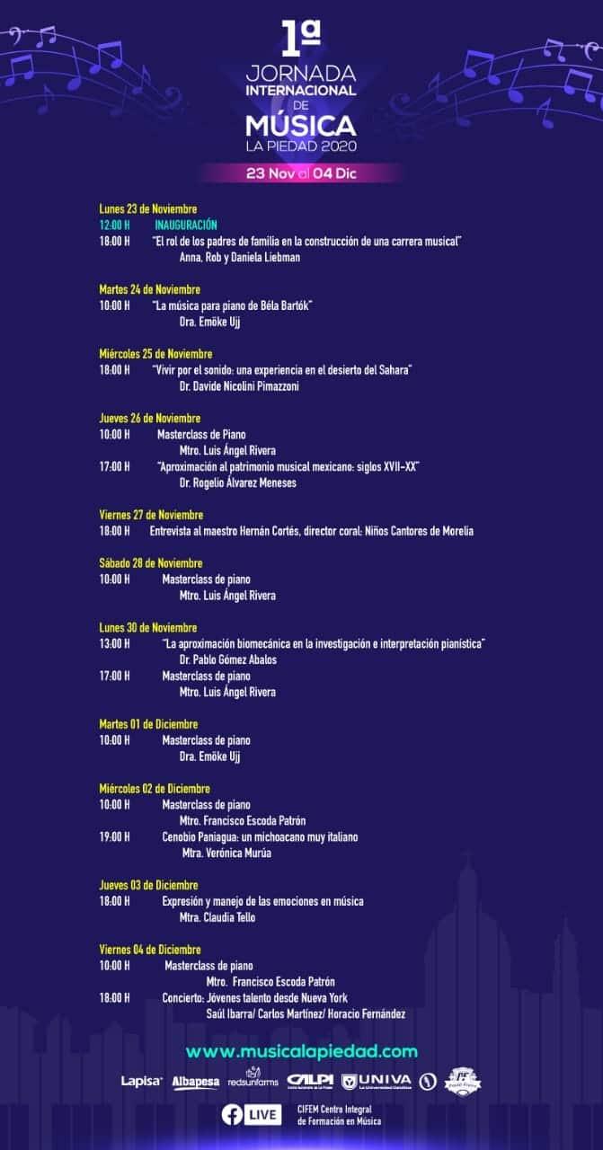 Jornadas Internacionales de Música programa completo