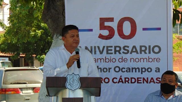 Lázaro Cárdenas, Feliciano Flores 50 años