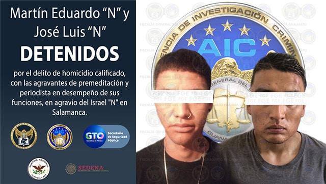 periodista Salamanca homicidio detenidos