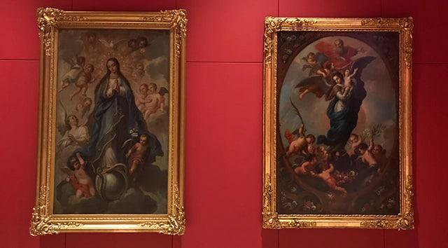 pintura exposición Virgen de Guadalupe