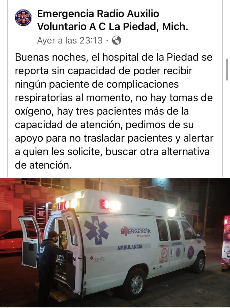 hospital general la piedad COVID