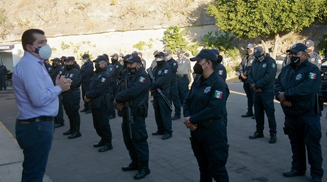 Medidas Sanitarias policia La Piedad 2