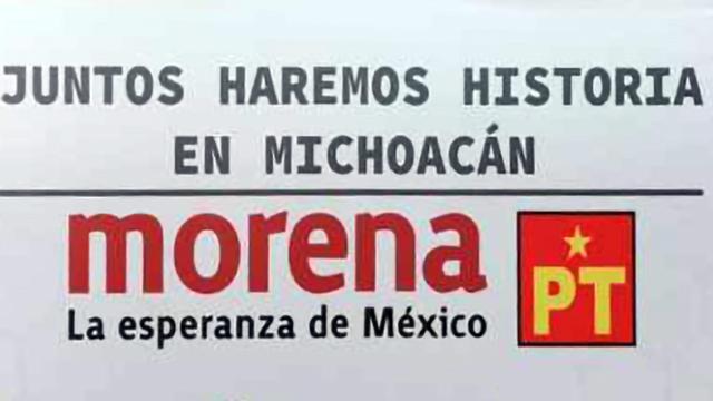 Morena PT Juntos haremos historia en Michoacán